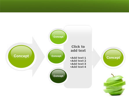 Sliced Green Apple PowerPoint Template Slide 17