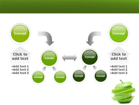 Sliced Green Apple PowerPoint Template Slide 19