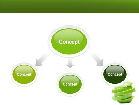 Sliced Green Apple PowerPoint Template, Slide 4, 04794, Food & Beverage — PoweredTemplate.com