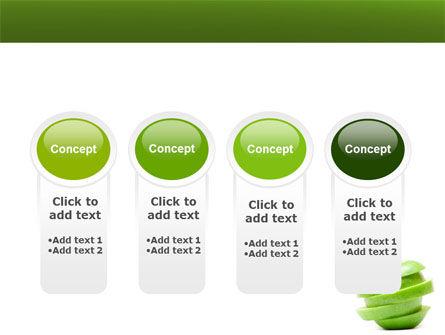 Sliced Green Apple PowerPoint Template Slide 5
