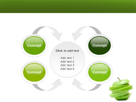 Sliced Green Apple PowerPoint Template Slide 6