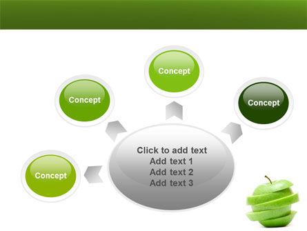 Sliced Green Apple PowerPoint Template Slide 7
