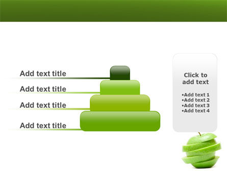 Sliced Green Apple PowerPoint Template Slide 8