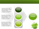 Sliced Green Apple PowerPoint Template#11