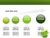 Sliced Green Apple PowerPoint Template#13