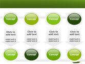 Sliced Green Apple PowerPoint Template#18