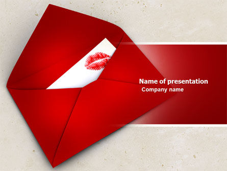 Letter With A Kiss PowerPoint Template