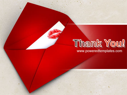 Letter With A Kiss PowerPoint Template Slide 20