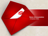 Holiday/Special Occasion: Letter With A Kiss PowerPoint Template #04795