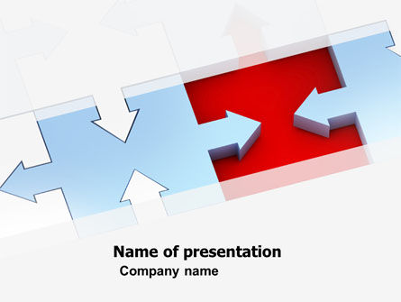 Destination Puzzle PowerPoint Template, 04797, Consulting — PoweredTemplate.com