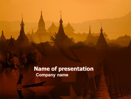 Burma PowerPoint Template, 04798, Flags/International — PoweredTemplate.com