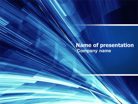 Abstract/Textures: Blue Splash PowerPoint Template #04799
