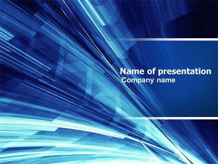 Blue Splash PowerPoint Template, 04799, Abstract/Textures — PoweredTemplate.com