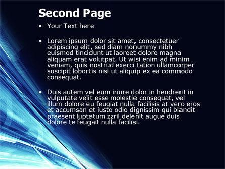 Blue Splash PowerPoint Template, Slide 2, 04799, Abstract/Textures — PoweredTemplate.com