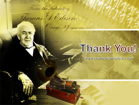 Thomas Edison PowerPoint Template Slide 20