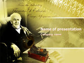 Education & Training: Thomas Edison PowerPoint Template #04802