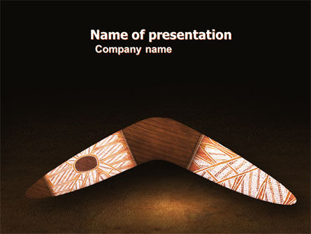 Art & Entertainment: Boomerang PowerPoint Template #04803