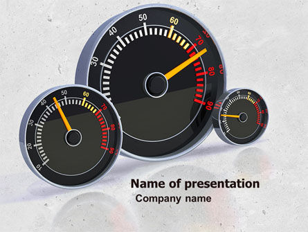 Speedo PowerPoint Template, 04804, Cars and Transportation — PoweredTemplate.com