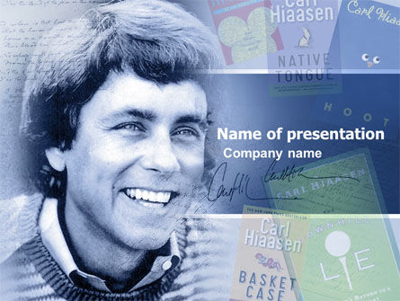 Carl Hiaasen Free PowerPoint Template, 04806, Art & Entertainment — PoweredTemplate.com