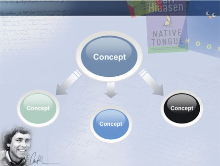 Carl Hiaasen Free PowerPoint Template, Slide 4, 04806, Art & Entertainment — PoweredTemplate.com