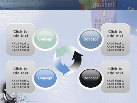 Carl Hiaasen Free PowerPoint Template Slide 9