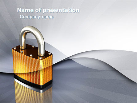Lock PowerPoint Template, 04814, Consulting — PoweredTemplate.com