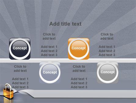 Lock PowerPoint Template Slide 19