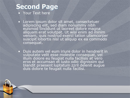 Lock PowerPoint Template Slide 2