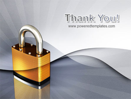 Lock PowerPoint Template Slide 20