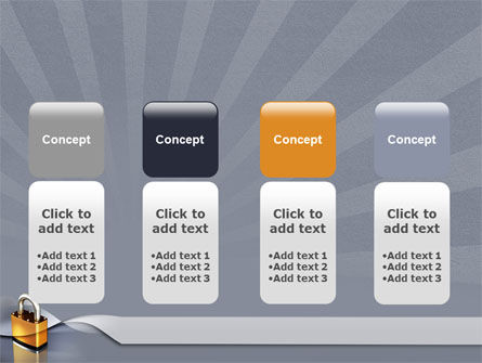 Lock PowerPoint Template Slide 5