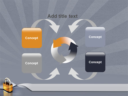 Lock PowerPoint Template Slide 6