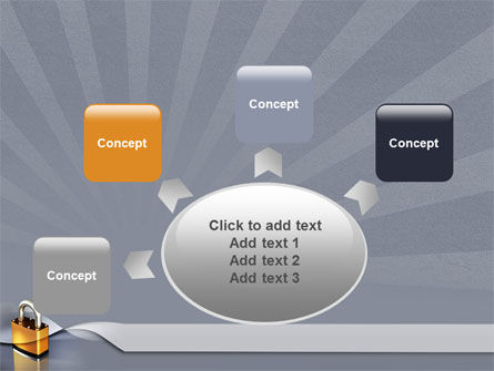 Lock PowerPoint Template Slide 7