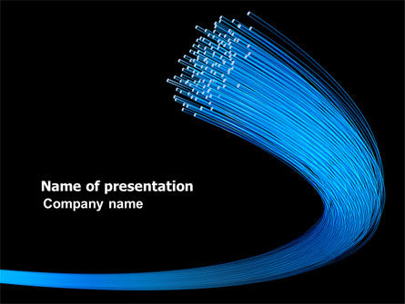 Technology and Science: Optical Fibre Network PowerPoint Template #04815