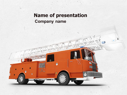 Fire Engine PowerPoint Template, 04818, Careers/Industry — PoweredTemplate.com