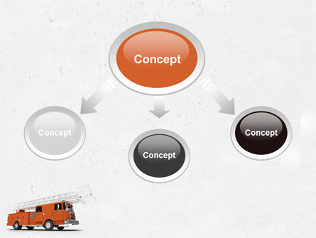 Fire Engine PowerPoint Template, Slide 4, 04818, Careers/Industry — PoweredTemplate.com