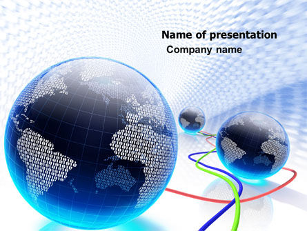 Telecommunication: World Web PowerPoint Template #04819