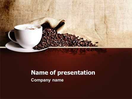 Coffee Break With Cappuccino PowerPoint Template, 04820, Food & Beverage — PoweredTemplate.com