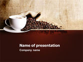 Food & Beverage: Coffee Break With Cappuccino PowerPoint Template #04820
