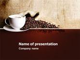 Food & Beverage: Templat PowerPoint Istirahatnya Kopi Dengan Cappuccino #04820