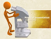 Technology and Science: Microscopical Research PowerPoint Template #04821