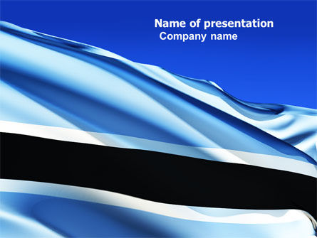 Botswana PowerPoint Template, 04822, Flags/International — PoweredTemplate.com