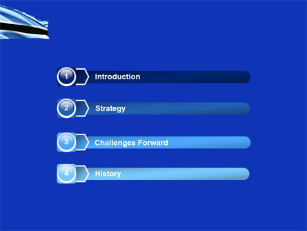 Botswana PowerPoint Template, Slide 3, 04822, Flags/International — PoweredTemplate.com