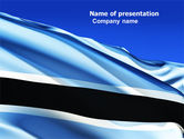 Flags/International: Botswana PowerPoint Template #04822