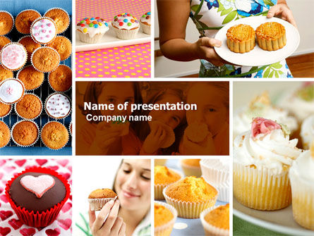 Cupcakes PowerPoint Template, 04823, Food & Beverage — PoweredTemplate.com