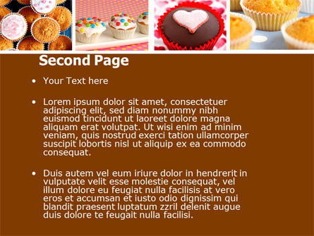 Cupcakes PowerPoint Template, Slide 2, 04823, Food & Beverage — PoweredTemplate.com