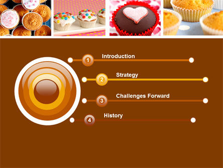 Cupcakes PowerPoint Template, Slide 3, 04823, Food & Beverage — PoweredTemplate.com