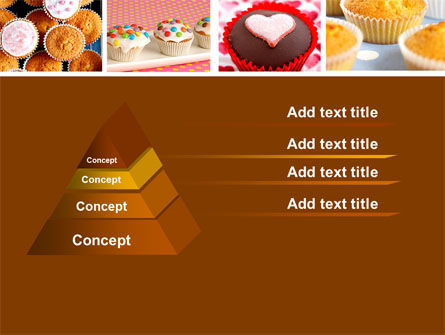 Cupcakes PowerPoint Template, Slide 4, 04823, Food & Beverage — PoweredTemplate.com