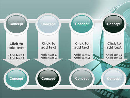 Film Reel PowerPoint Template Slide 18