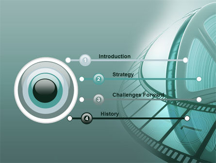 Film Reel PowerPoint Template Slide 3