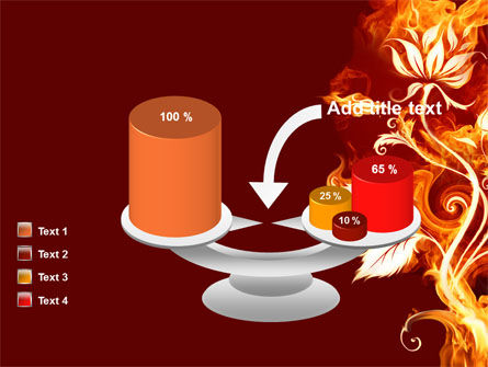 Flaming Flower PowerPoint Template Slide 10